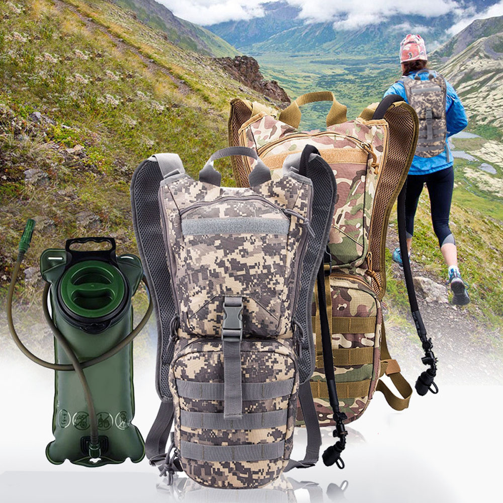 3L Water Bag + 3L Waterproof Backpack Outdoor Climbing Cycling Camping Sport Water Bladder Hydration Backpack Camelback naturehike hot brand 3l peva bladder hydration bicycle camping hiking climbing outdoor camelback water bag green nh30y030 d