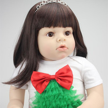 New Fashion 28 Inches 70 cm Large Size Clothing Model Girls Real Touch Realistic Girls Silicone Reborn Toddler Dolls Cheap