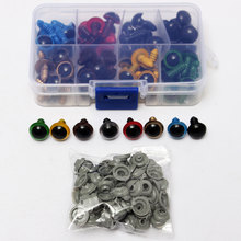 80Pairs 12mm 8 Colors-Mix Plastic Safety Eyes Box for Teddy Bear Stuffed Toy Snap Animal Puppet Doll Craft DIY 12mm doll stuffed doll eyeballs half round acrylic eyes for diy doll bear crafts mix color plastic doll eyeball 100pcs box