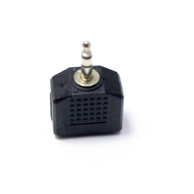 1 Uds 3,5mm 2 polos Mono/3 polos estéreo macho enchufe a hembra jack enchufe 2 en 1 Conector Adaptador de audio divisor de auriculares