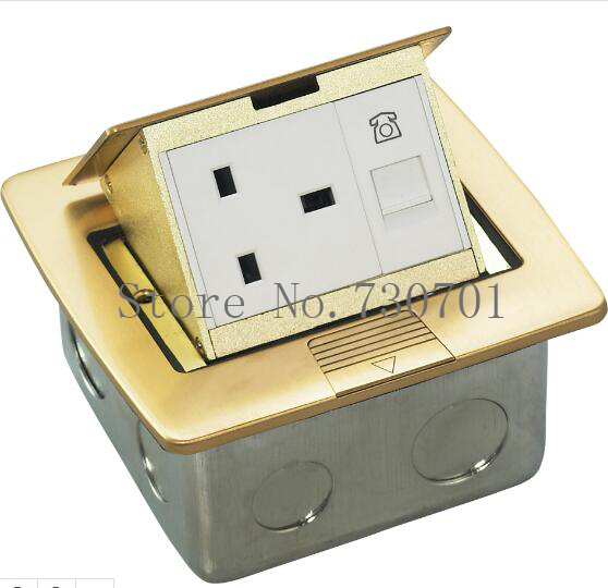 Ground/Silver Socket Floor Power Outlet Box,Manual pop up floor socket for Commercial, Industrial, Hospital, Laboratory,100pcs ship from ru aluminum silver panel eu standard pop up floor socket electrical outlet ground socket 2pcs set free shipping