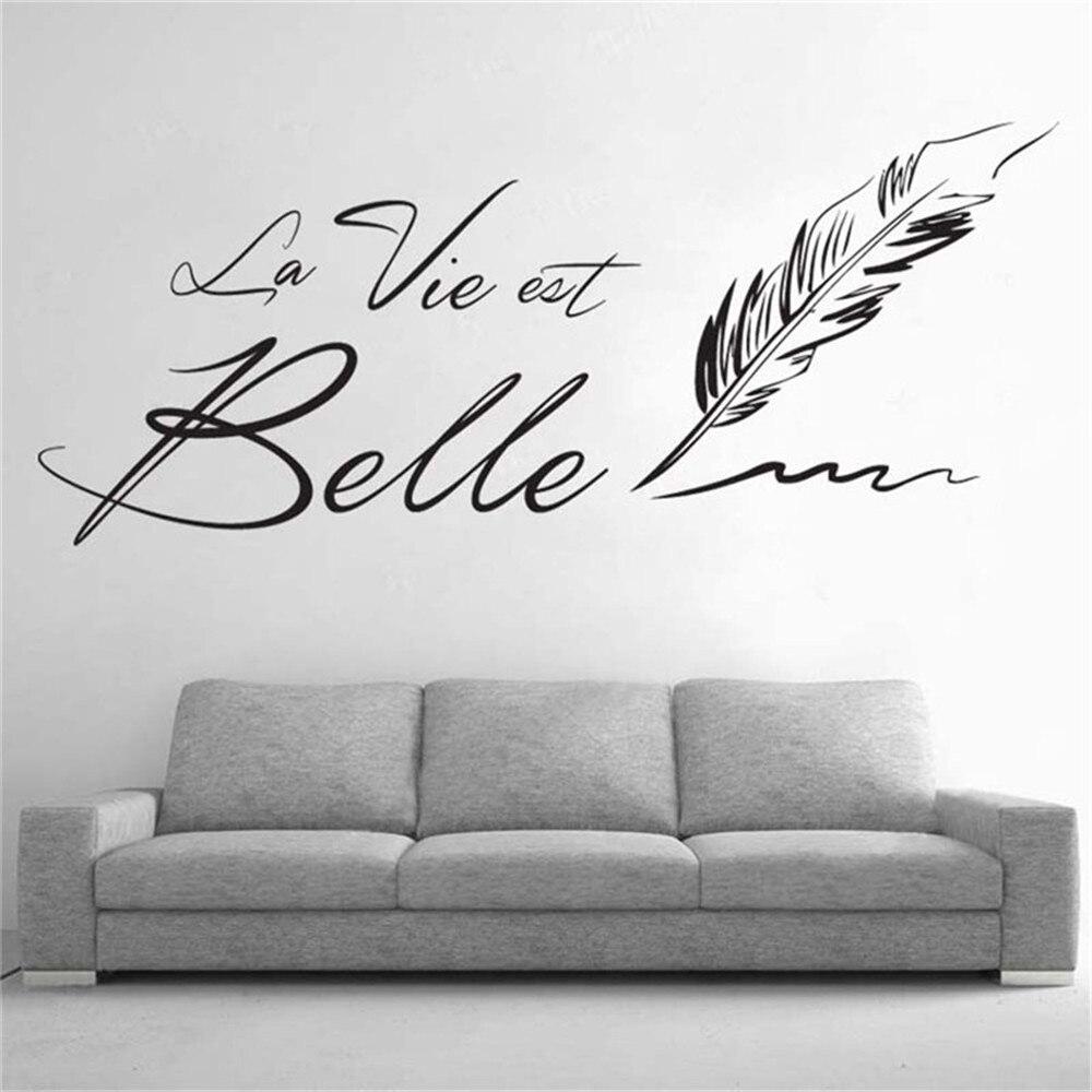 Buy letters la vie est belle wall - Pegatinas pared frases ...