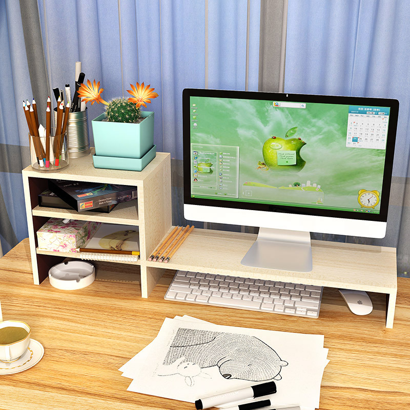 LK1656 High Quality PC Monitor Heightening Desktop Rack Home Computer Stand Laptop Desk Small Storage Rack Office Furniture