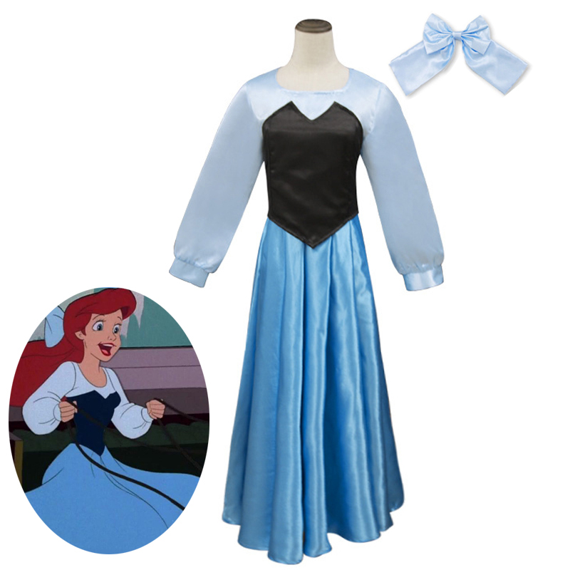 Kids Ariel Little Mermaid Set Girl Princess Dress Party Cosplay Costume Outfit z