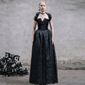 Devil Fashion Slim Gothic Royal Court Long Period Dress for Aristocratic Women Victorian Lolita Vintage Female Halter Ball Gown