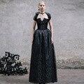 Diablo moda slim dress gothic royal court largo período para mujeres de la aristocracia victoriana lolita vintage mujer halter del vestido de bola