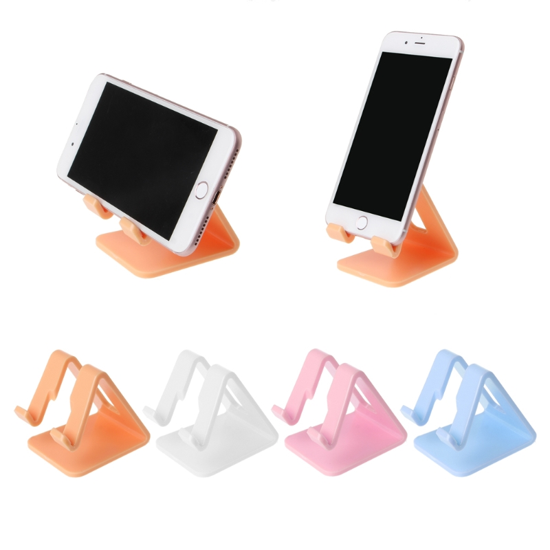 Universal Bed Office Desk Mount Hard Plastic Stand Holder For Smart Phone Tablet PC