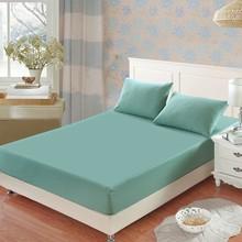 Drap-housse d'hôtel 100% coton, couvre-matelas antidérapant, couleur unie, couvre-lit multicolore en option, 1 pièce