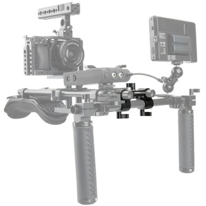 Image 3 - NICEYRIG 15mm DSLR מוט מהדק כפול כדי יחיד 90 תואר Railblock וידאו מצלמת וידאו מצלמה DV/DC כתף תמיכת Rig מערכת