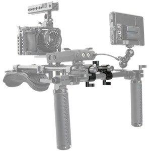 Image 3 - NICEYRIG зажим DSLR 15 мм, стержень, двойной в один, 90 градусов, Railblock для видеокамеры, камеры DV/DC, плечевая опора, система поддержки