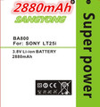 2880mAh BA800 Battery For Sony Xperia S LT25i Xperia V LT26i Sony Xperia Arc HD Xperia V LT25i