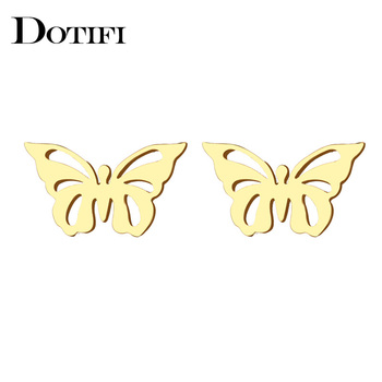 DOTIFI Stainless Steel Stud Earring For Women ManHollow Butterfly Gold And Silver Color Lover s Engagement.jpg 350x350 - Earrings For Women