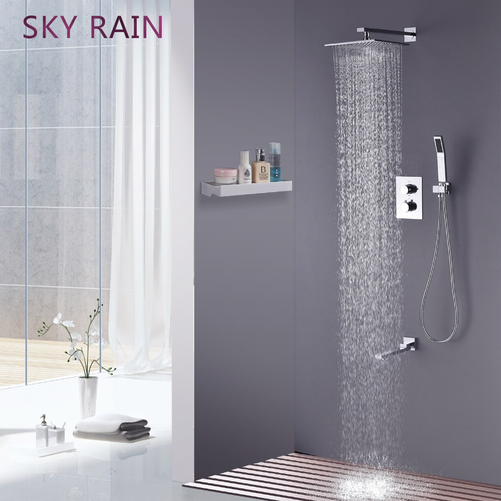 SKY RAIN Rotation Spout Faucet Smart Thermostatic Shower Set High Pressure Water Saving Head
