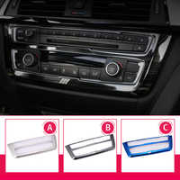 Car Styling Air Conditioning CD Panel Decorative Cover Trim Auto Interior Accessories metal Sticker for BMW F30 F34 3 series GT