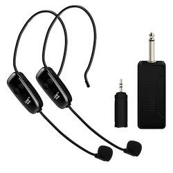 U12F Uhf jeden na dwa bezprzewodowe słuchawki wzmacniacz mikrofonowy mikser nadaje się do nauczania przewodników spotkania wykłady w Mikrofony od Elektronika użytkowa na