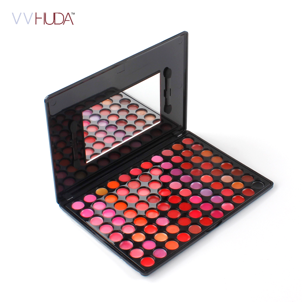 Professional 88 Colors Makeup Lip Gloss Palette Sexy Lipbalm Moisturizer Cosmetic Lipstick Shimmer Kit with Mirror miss rose popular new shimmer metal colors lip gloss