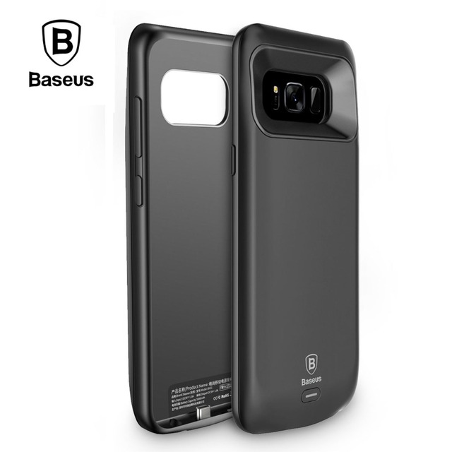 the best attitude b46e1 8329f US $38.45 |Baseus 5000/5500mAh Power Bank Case For Samsung Galaxy S8 Plus  Portable External Backup Battery Charging Case For Samsung S8-in Battery ...