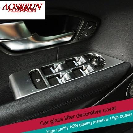 4pcs Chrome Door Window Switch Cover Trim For Land Rover Range Rover Evoque 2011-2016 Accessory For Left Hand Driver,Car Styling технопарк модель автомобиля land rover range rover evoque цвет оливковый