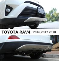 For TOYOTA RAV4 2016 2017 2018 Front + Rear Bumper Diffuser Stainless steel Bumpers Guard skid plate