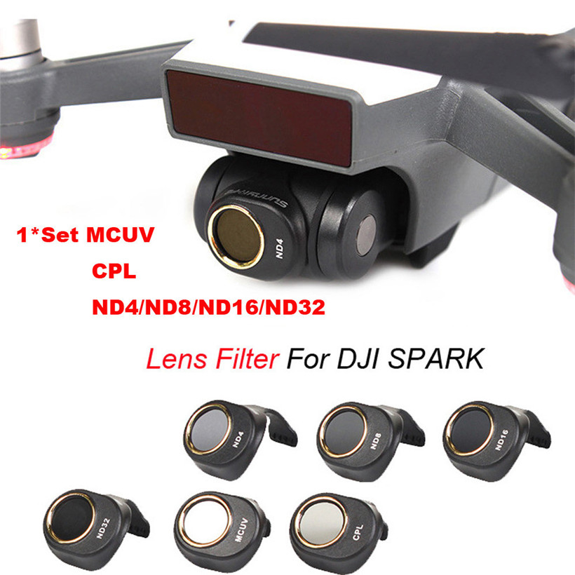 MCUV CPL ND4 ND8 ND16 ND32 For DJI SPARK Drone Gimbal Camera HD Lens Filter drop