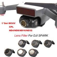 MCUV/CPL/ND4/ND8/ND16/ND32 для DJI Spark Drone Gimbal Камера HD объектив фильтр Прямая доставка; 0807 г.;
