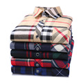 2016  Men's plaid shirt Long sleeve cultivate one's morality Grinding wool shirt trend of recreational men's clothing