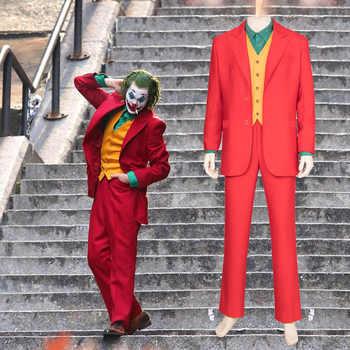 Ensemble complet Adulte Joker Costumes Origine Film Horreur Clown Halloween fête déguisement Clown Cosplay Joker déguisement Livraison