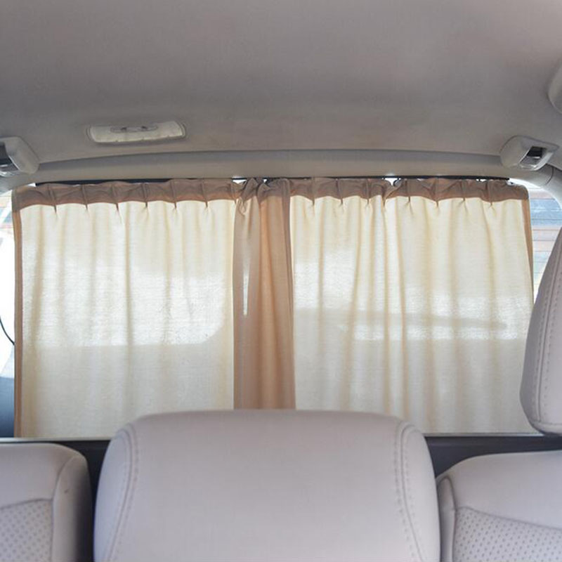 Aluminum Shrinkable Car Rear Windshield Side Window Sun Visor Blinds Curtain Automotive Sun Shade Anti UV Curtains Car Covers possbay retractable black car retractable curtain side window sun shade windshield sunshade shield visor black mesh curtains