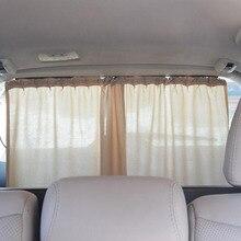 Aluminum Shrinkable Car Rear Windshield Side Window Sun Visor Blinds Curtain Automotive Sun Shade Anti UV Curtains Car Covers