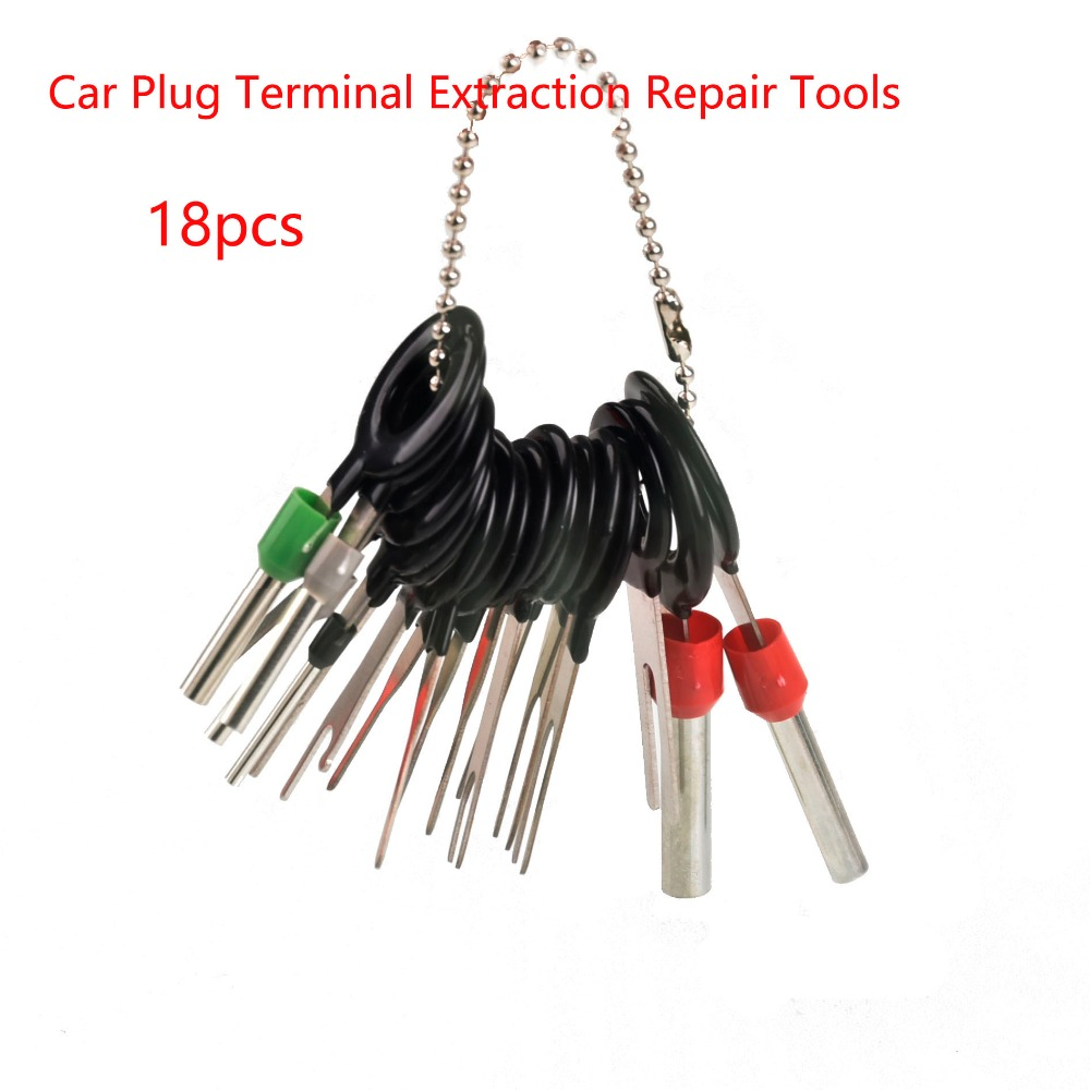 Hot Sale 18pcs Auto Car Plug Circuit Board Wire Harness Terminal Extraction Disassembled Crimp Pin Back Needle Remove Tool Kit
