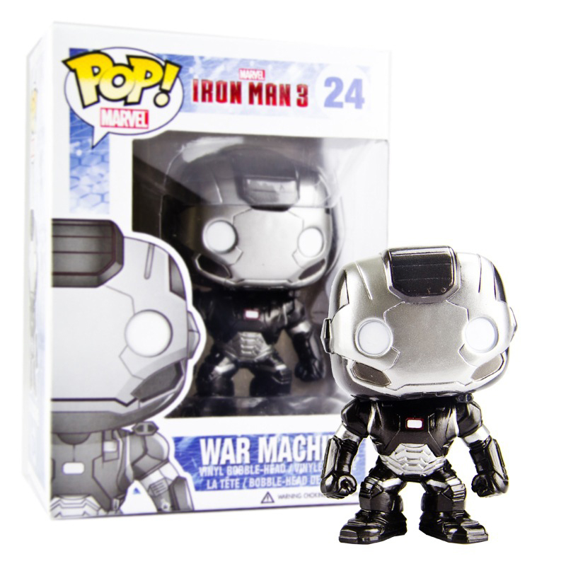 Funko POP Marvel Iron Man 3 War Machine PVC action figure 24# collection model doll for kids birthday gifts 10CM with box