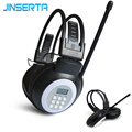 JINSERTA Mini FM Radio Wired Headphone with 3.5mm Jack Support Stereo Sound Selection for Large Meeting