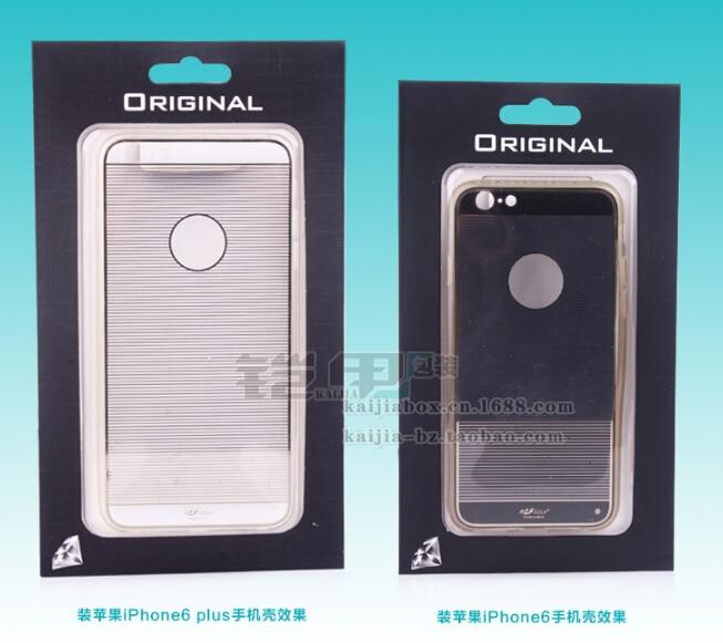 imágenes para KJ-430 Universal Empaquetado Al Por Menor Caja De Embalaje para iPhone 7 Plus 7 6 6 Más Caso para Samsung HTC LG 4.5-6 pulgadas Cajas Del Teléfono Móvil