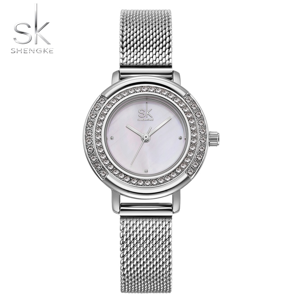 Shengke Women Watches Luxury Brand Fashion Quartz Ladies Mesh Band Bracelet Watch Casual Clock Montre Femme Reloj Mujer 2018 new design square women watches rebirth popular brand fashion casual ladies watch quartz clock grey wristwatches reloj mujer