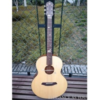 41inch OM Spruce Solid Top guitar Mahogany solid wood travel guitar pickup shell inlay open knob Professional Performance guitar