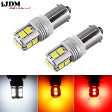 iJDM Canbus Error Free BA9S BAX9S H21W BAY9s LED For car Reverse Lights or Parking Lights, License Plate Lights,White Red yellow 2pcs high power canbus error free white amber ba9s t4w bax9s h6w bay9s h21w 64136 xbd 11w led lights reverse parking bulb lamps