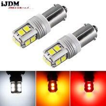 Ijdm canbus sem erro ba9s bax9s h21w bay9s led para luzes de carro ou luzes de estacionamento, luzes da placa da licença, branco vermelho amarelo