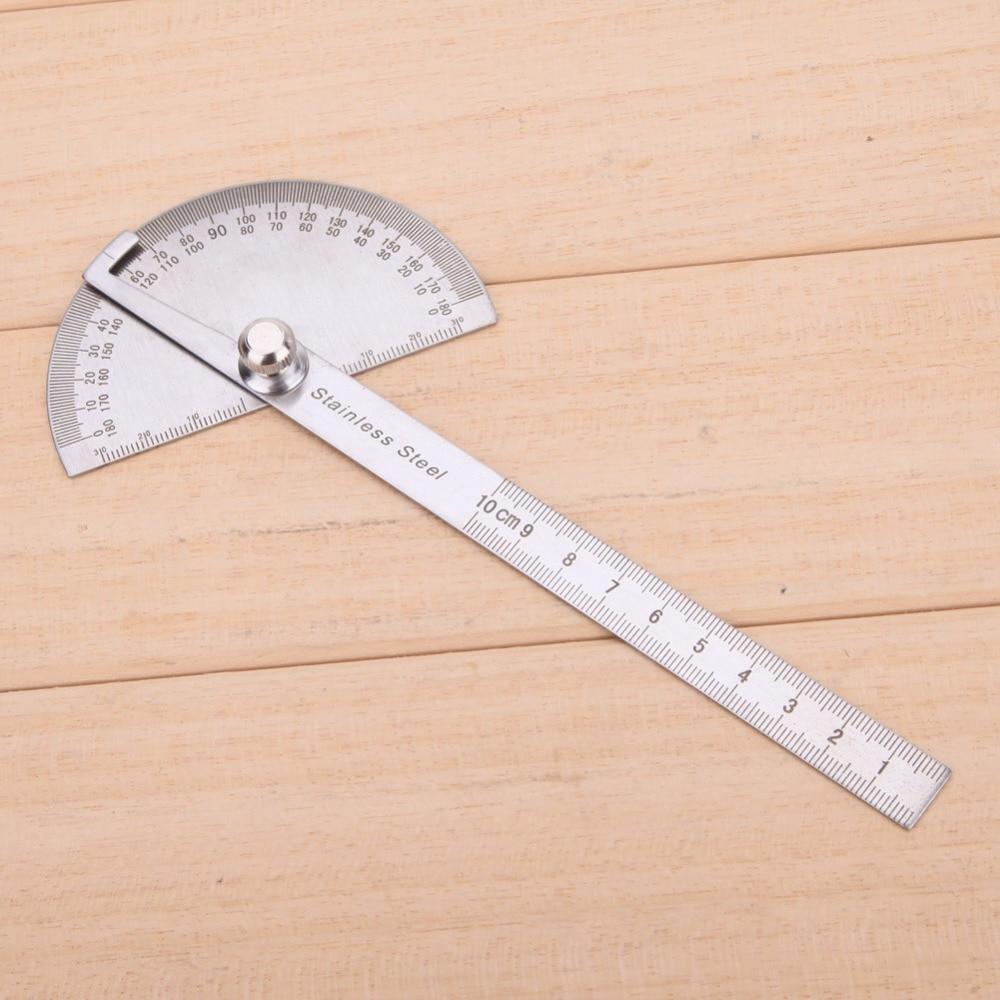 Obrotowa linijka pomiarowa ze stali nierdzewnej 180 stopni Kątomierz - Przyrządy pomiarowe - Zdjęcie 3