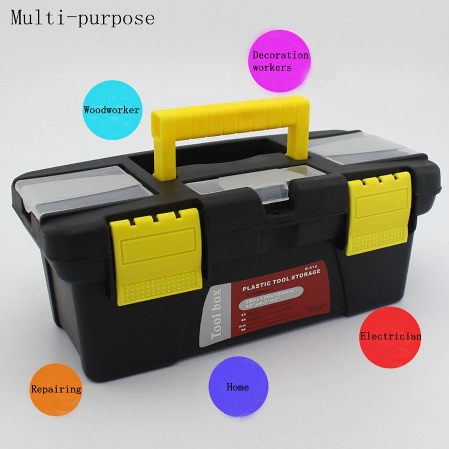 Small Size Portable Tool Box Large Capacity Double Layer Tool Storage Box Removable Design Portable Suitcase new double stage size reduced box pgl115 30 sesame