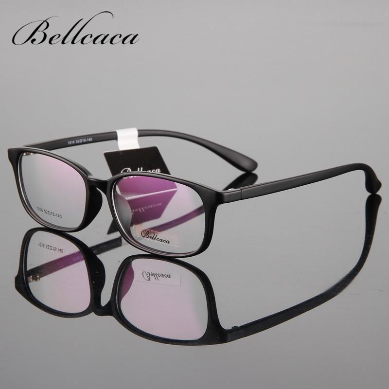Bellcaca briļļu TR90 rāmja acu brilles vīriešiem sievietēm datoru optiskās brilles Myopia vīriešu caurspīdīgam caurspīdīgam lēcai BC027
