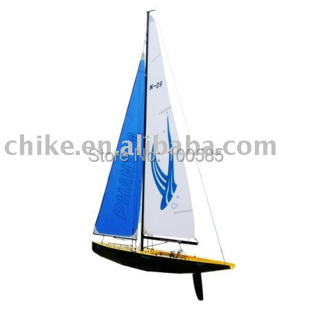 R/C sailing boat, Radio Control Electric RTR 4CH NEW RC Yacht Wind Powered