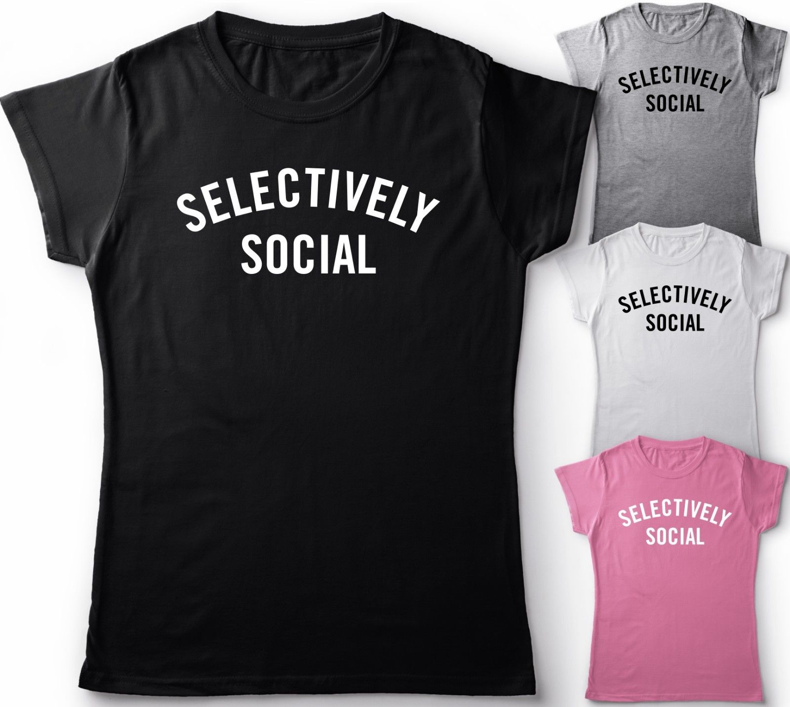 SELECTIVELY SOCIAL FUNNY SLOGAN UNISEX LADIES T SHIRT GIFT IDEA TOP PARTY TEEMen 39 S T Shirts Summer Style free shipping in T Shirts from Men 39 s Clothing
