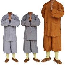 3 цвета шаолин храмовый костюм дзен-буддистское одеяние одеяния буддийских монахов платье религия монах одежда HaiQing униформы для монахов