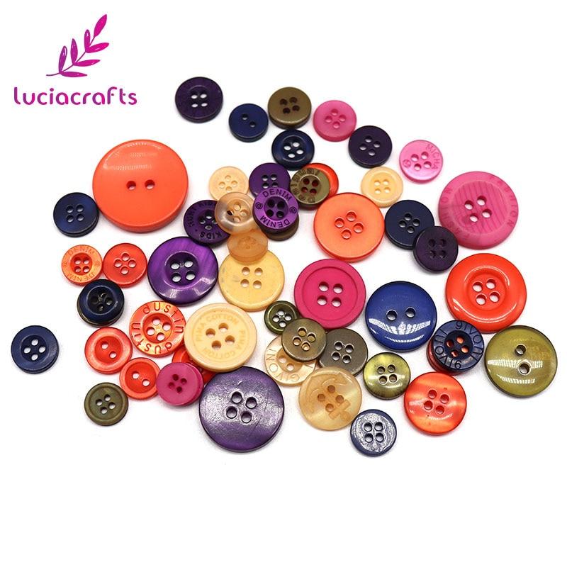Lucia crafts Appr: 20 г смешанный произвольно деревянные пуговицы из смолы DIY Швейные плоские с оборота пуговицы, аксессуары для одежды E0102 - Цвет: style 1