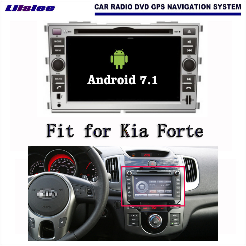 Liislee Android 7.1 2G RAM For Kia Forte 2008~2012 Car Radio Audio Video Multimedia DVD Player WIFI DVR GPS Navi Navigation android 7 1 2g ram for hyundai ix45 santa fe 2012 2016 car radio audio video multimedia dvd player wifi dvr gps navi navigation
