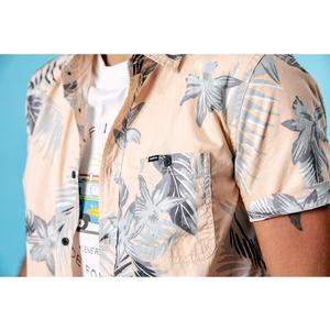 Image 4 - SIMWOOD 2020 été nouveau hawaii manches courtes chemises hommes vacances 100% coton respirant à fleurs chemise de grande taille vêtements 190263