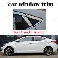 Paslanmaz Çelik Araba Styling Aksesuarları Pencere Döşeme Dekorasyon Şeritleri h-yundai Için Avante