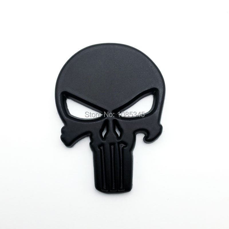Sticker Punish Skull Face Emblem Badge for Jeep Wrangler Rubicon Tailgate Fender Motorcycle Car-Styling Stickers on Cars