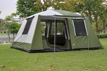 Две спальни 6-12 человек двойной слой супер сильный Водонепроницаемый Ветрозащитный Кемпинг домашняя палатка для вечеринок
