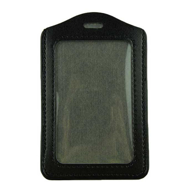 0c596a6ea01707 Voberry 5pcs Black PU Leather Business ID Badge Card Holder Vertical (Top  Loading) with Slot & Chain Holes oct1025 Extraordinary